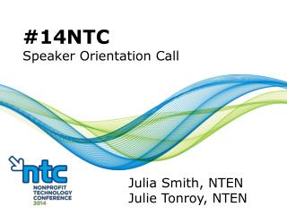 #14NTC Speaker Orientation Call