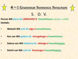 4- 1 Grammar Sentence Structure