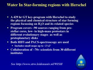 Water In Star-forming regions with Herschel