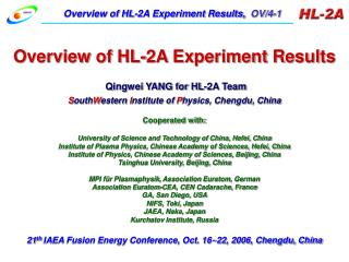 Overview of HL-2A Experiment Results