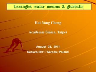Isosinglet  scalar  mesons  &  glueballs