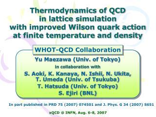 Yu Maezawa (Univ. of Tokyo) in collaboration with S. Aoki, K. Kanaya, N. Ishii, N. Ukita,