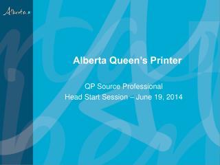 Alberta Queen's Printer