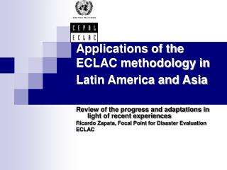 Applications of the ECLAC methodology in Latin America and Asia