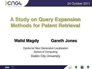 A Study on Query Expansion Methods for Patent Retrieval