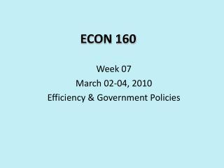 ECON 160