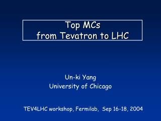 Top MCs from Tevatron to LHC