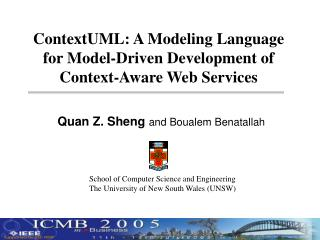 ContextUML: A Modeling Language  for Model-Driven Development of Context-Aware Web Services