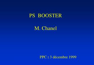 PS  BOOSTER M. Chanel
