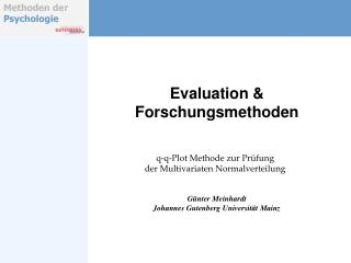 Evaluation & Forschungsmethoden