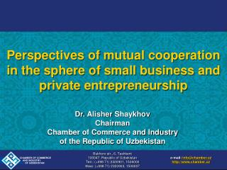 Perspectives of mutual cooperation in the sphere of small business and private entrepreneurship
