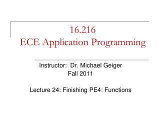 16.216 ECE Application Programming