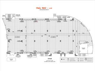 Hala  NA2  -   2.NP Celková plocha 2.300 m 2