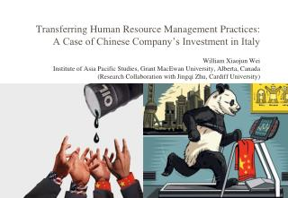 Transferring Human Resource Management Practices: A Case of Chinese Company's Investment in Italy