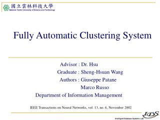 Fully Automatic Clustering System