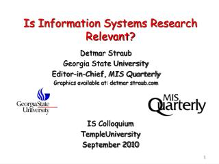 Is Information Systems Research Relevant?