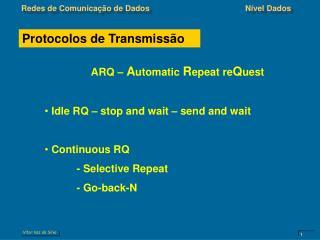 Protocolos de Transmissão