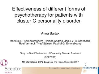 Effectiveness of different forms of psychotherapy for patients with cluster C personality disorder