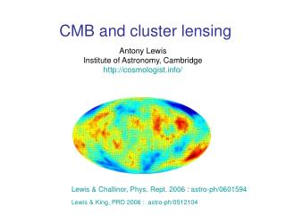 CMB and cluster lensing