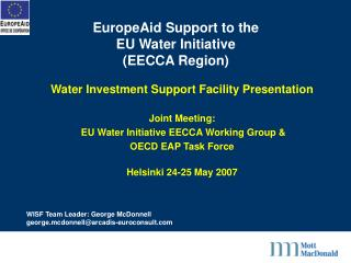 EuropeAid Support to the  EU Water Initiative (EECCA Region)