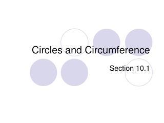 Circles and Circumference
