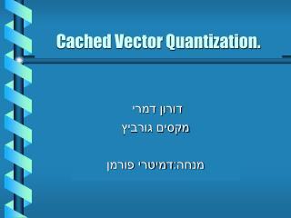 Cached Vector Quantization.