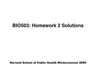 BIO503: Homework 2 Solutions
