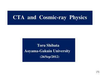 CTA  and  Cosmic-ray  Physics
