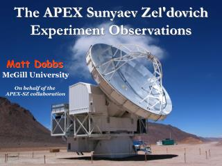The APEX Sunyaev Zel'dovich Experiment Observations
