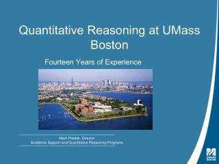 Quantitative Reasoning at UMass Boston