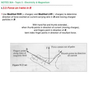 NOTES 36A - Topic 5 - Electricity & Magnetism