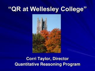 """QR at Wellesley College"""