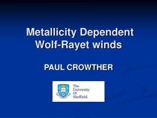 Metallicity Dependent Wolf-Rayet winds