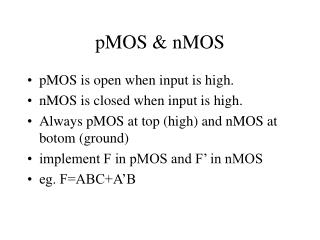 pMOS & nMOS