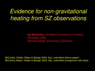 Evidence for non-gravitational heating from SZ observations