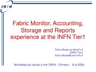 Fabric Monitor, Accounting, Storage and Reports experience at the INFN Tier1