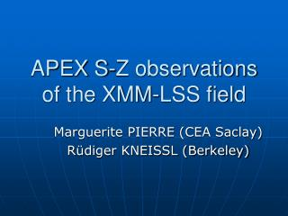 APEX S-Z observations of the XMM-LSS field