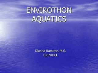 ENVIROTHON AQUATICS
