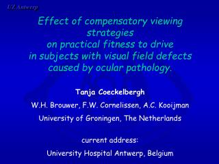 Effect of compensatory viewing strategies  on practical fitness to drive