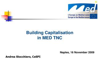 Building Capitalisation   in MED TNC Naples, 16 November 2009 Andrea Stocchiero, CeSPI