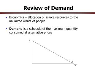 Review of Demand
