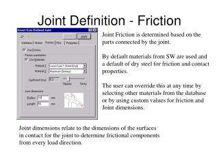 Joint Definition - Friction