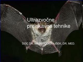 Ultrazvočne preiskavne tehnike