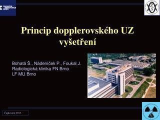 Princip dopplerovského UZ vyšetření