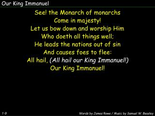 Our King Immanuel