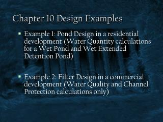 Chapter 10 Design Examples