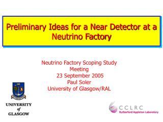 Preliminary Ideas for a Near Detector at a  Neutrino Factory