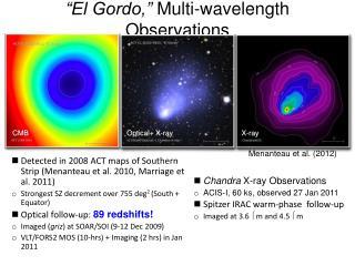 """El Gordo,""  Multi-wavelength Observations"