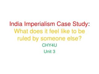 The British Empire   India