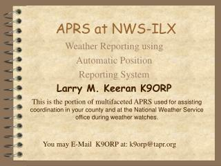 APRS at NWS-ILX